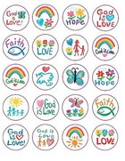 Sticker Pack: Faith Kid-Drawn Novelty