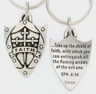 Keyring: Faith Shield (Lead-free Pewter) Jewellery