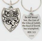 Keyring: Victory Shield (Lead-free Pewter) Jewellery
