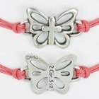 Bracelet: Butterfly With Cross Adjustable (%100 Lead Free Pewter) Jewellery