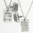 Pendant: Songs of Worship: You Are My King (Lead-free Pewter) Jewellery