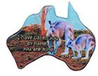 Christian Australia Map Shaped Resin Fridge Magnet: 2 Roos/Is 43 1 Novelty
