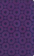 Amplified Compact Purple/Metallic Imitation Leather