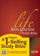 NIV Life Application Study Bible Indexed (Red Letter Edition)