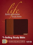 NIV Life Application Study Bible Brown/Tan Indexed (Red Letter Edition) Imitation Leather