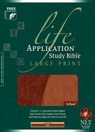 NLT Life Application Study Bible, Brown/Tan (Large Print) Imitation Leather