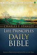 NKJV Charles F. Stanley Life Principles Daily Bible (Black Letter Edition)