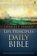 NKJV Charles F. Stanley Life Principles Daily Bible (Black Letter Edition) Hardback