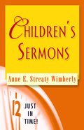 Children's Sermons (Just In Time Series) Paperback