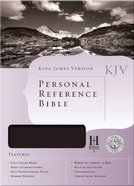 KJV Personal Reference Bible Black Bonded Leather