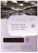 KJV Hand Size Giant Print Reference Burgundy Bonded Leather