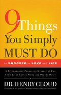 9 Things You Simply Must Do to Succeed in Love and Life (Large Print) Paperback