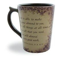 Classic Ceramic Mug: Special Purpose, (2 Corinthians 9:8 NIV) (Beige)