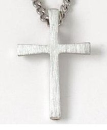 Pendant: Flared Cross (Pewter)