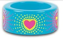 Cherished: Heart Burst Fun Colorful Acrylic Ring Size 7