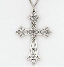 Pendant: Cross Fleuree Victorian (Pewter)
