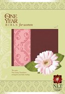 NLT One Year Bible For Women Mocha/Coral Imitation Leather