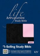 KJV Life Application Study Bible, Black/Patent Leather Pink Indexed 2nd Edition (Red Letter Edition) Imitation Leather