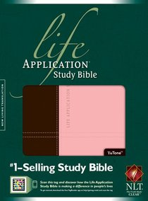 NLT Life Application Study Bible Dark Brown/Pink Indexed (Red Letter Edition)