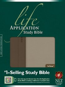 NLT Life Application Study Bible Taupe Stone Thumb-Indexed
