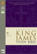 KJV Study Burgundy Bonded Leather