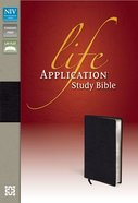 NIV Life Application Study Bible Black (Red Letter Edition) Bonded Leather