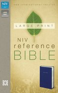 NIV Large Print Reference Bible Navy (Red Letter Edition) Imitation Leather