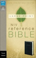 NIV Large Print Reference Bible Black Indexed (Red Letter Edition) Imitation Leather