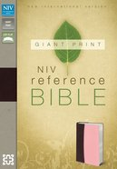 NIV Giant Print Reference Bible Burgundy Pink (Red Letter Edition)