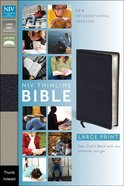 NIV Large Print Thinline Bible Black Thumb Indexed (Red Letter Edition)