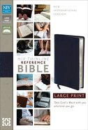 NIV Large Print Thinline Reference Bible Navy Indexed (Red Letter Edition) Bonded Leather