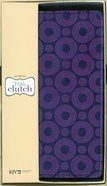 KJV Bible Clutch Purple/Metallic (Red Letter Edition) Imitation Leather