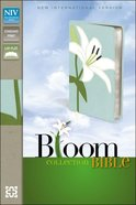 NIV Thinline Bloom Bible White Lily Duo-Tone (Red Letter Edition) Imitation Leather