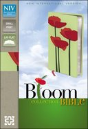 NIV Compact Thinline Bloom Bible Red Poppies (Red Letter Edition)