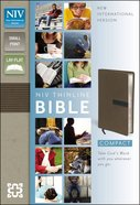 NIV Thinline Bible Compact Dark Taupe/Graphite (Red Letter Edition) Imitation Leather