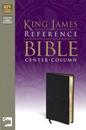 KJV Reference Bible Black (Red Letter Edition) Imitation Leather