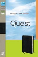NIV Quest Standard Study Bible Black Bonded Leather