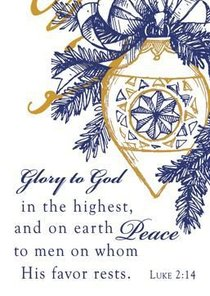Christmas Gift Card and Envelope: Glory to God