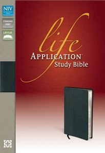 NIV Life Application Study Ebony Fine Leather (Red Letter Edition)