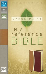 NIV Large Print Reference Bible Camel Burgundy Duo-Tone (Red Letter Edition)