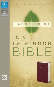 NIV Large Print Reference Burgundy (Red Letter Edition)
