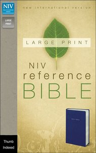 NIV Large Print Reference Bible Navy Indexed (Red Letter Edition)