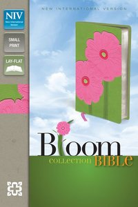 NIV Compact Thinline Bloom Bible Gerbera Daisy Duo-Tone (Red Letter Edition)