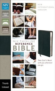 NIV Thinline Reference Bible Black Indexed (Red Letter Edition)