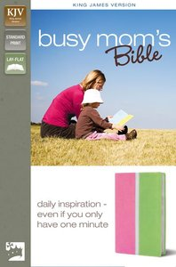 KJV Busy Mums Bible Pink/Spring Green (Red Letter Edition)