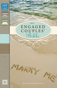 NIV Engaged Couples Bible Seaglass/Wet Sand Duo-Tone (Red Letter Edition)
