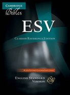 ESV Cambridge Clarion Reference Black Goatskin Genuine Leather