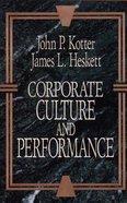 Corporate Culture and Performance Hardback
