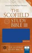 ESV Scofield Study Bible III Blue Thumb-Indexed Bonded Leather