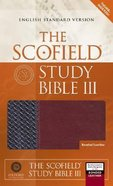 ESV Scofield Study Bible III Basketweave Black Burgundy Thumb-Indexed Bonded Leather